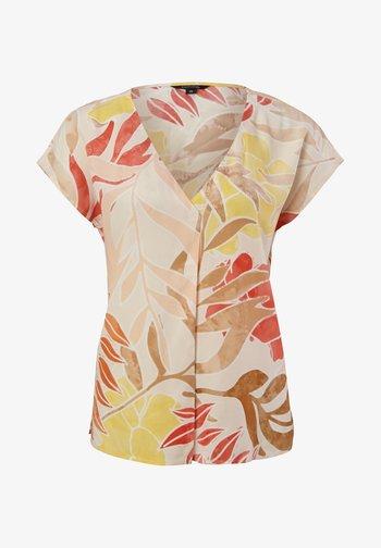 Print T-shirt - coral leaf