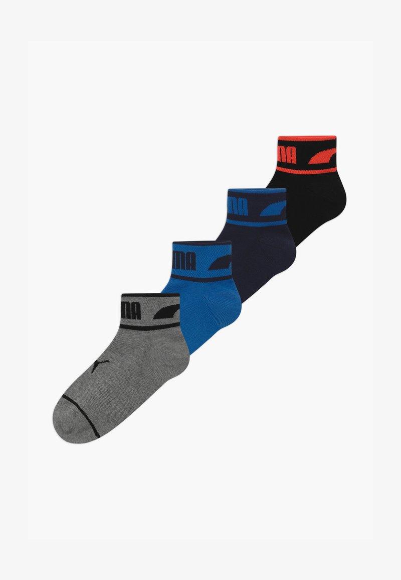 Puma - BOYS SEASONAL LOGO QUARTER 4 PACK - Ponožky - grey/black/blue