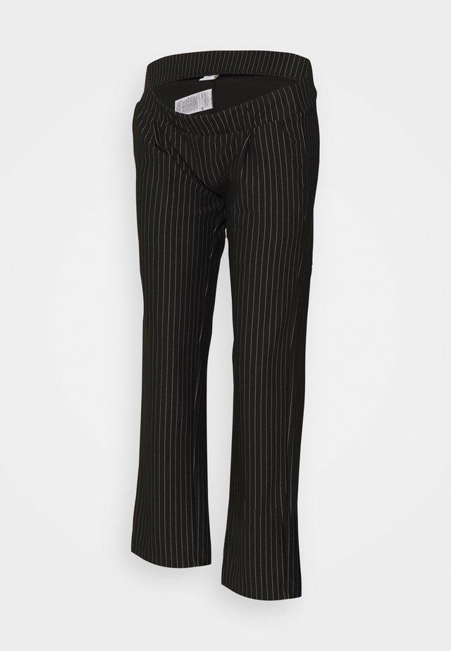 MLMINNA PINSTRIPED PANTS - Pantaloni - black/white
