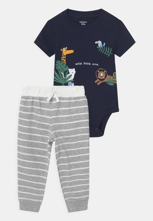 ANIMAL SET - Print T-shirt - dark blue