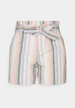ONLSTACY FRILL STRIPE - Shorts - desert sage/cloud dancer
