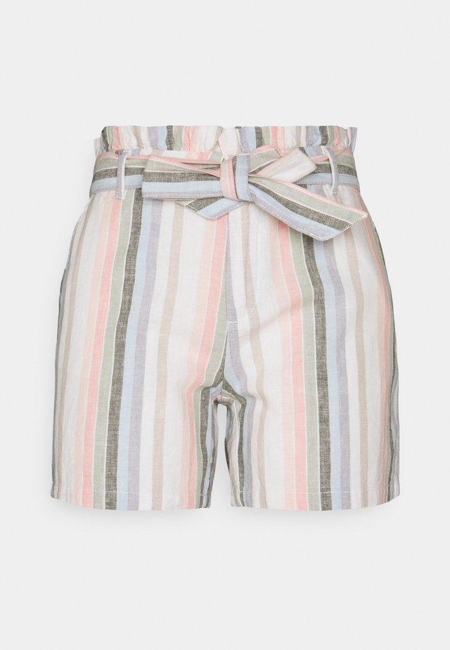 ONLSTACY FRILL STRIPE - Shorts - desert sage/cloud dancer