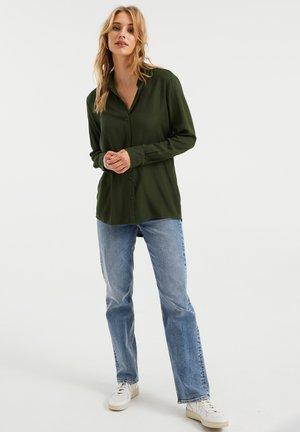 MET JACQUARDDESSIN - Button-down blouse - dark green