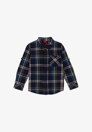 Overhemd - dark blue check