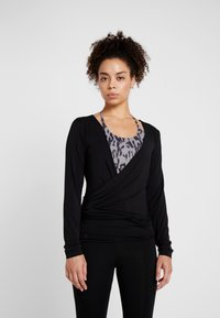 Curare Yogawear - WRAP JACKET - Training jacket - black - 0