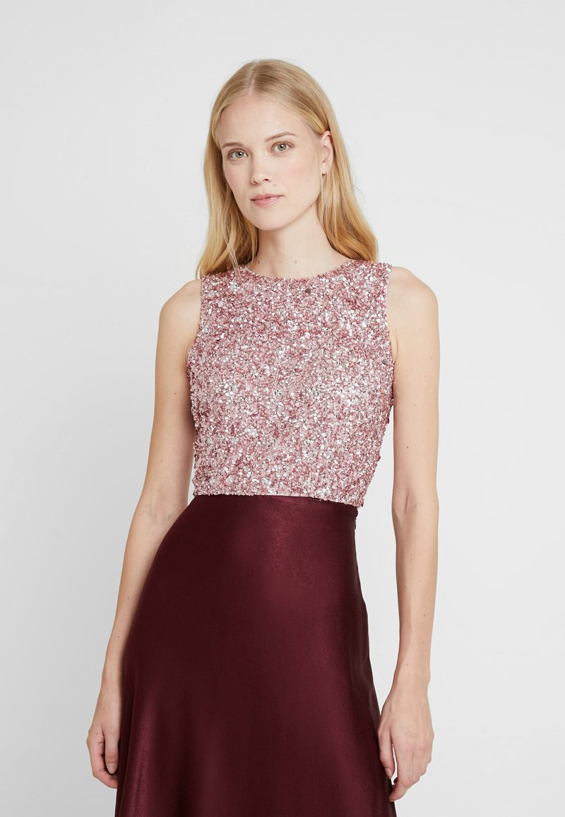 Lace & Beads - PICASSO - Top - dark pink