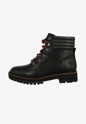 Lace-up ankle boots - black full grain