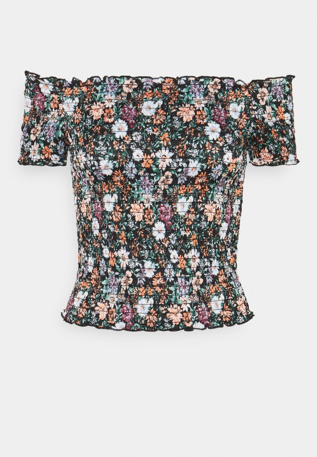 JDYBOA SMOCK - Print T-shirt - black