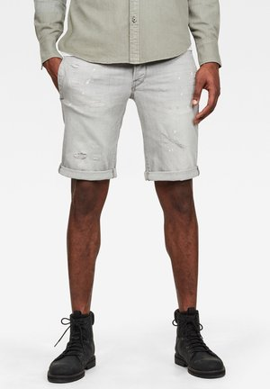 D-STAQ 3D - Denim shorts - sun faded pewter grey restored