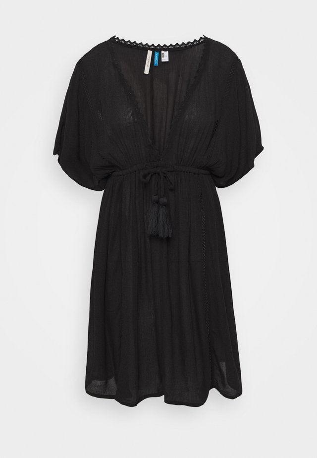 BOHO BEACH COVER UP - Strandaccessoire - black out
