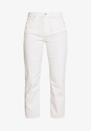 HIGH WAIST CROPPED LENGTH - Jeans straight leg - soft white