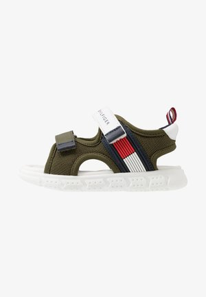 Walking sandals - military green/white