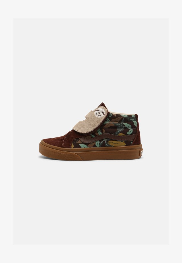 SK8-MID SLOTH REISSUE UNISEX - High-top trainers - potting soil/classic gum