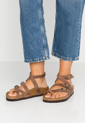 SERES - T-bar sandals - camberra old tabacco