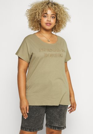 MBIANCA - T-shirts med print - light green