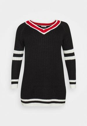PULLOVER DRESS - Jumper dress - black/white