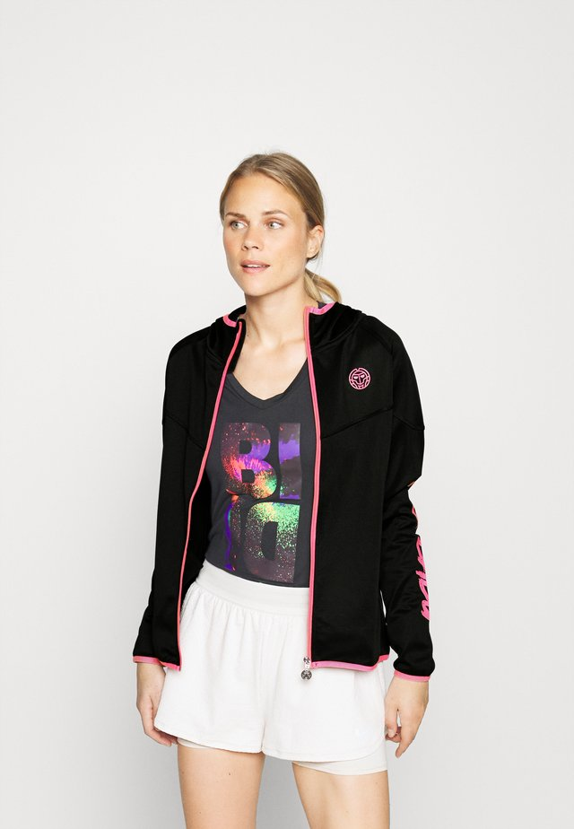 INGA TECH JACKET - Giacca sportiva - black/pink
