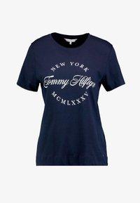 Tommy Hilfiger - NECK TEE - T-shirt imprimé - blue - 3