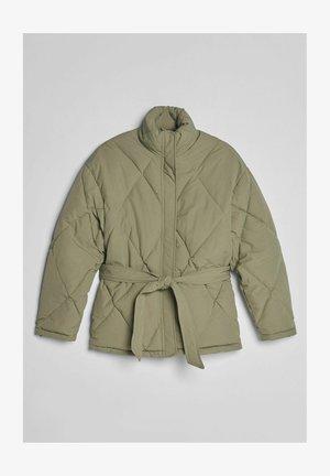 MIT GÜRTEL - Winter jacket - khaki