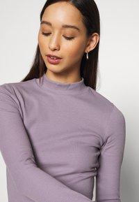 Weekday - VERA MOCKNECK - Long sleeved top - lilac - 5