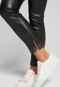 JOOP! - SARA - Leather trousers - black - 7