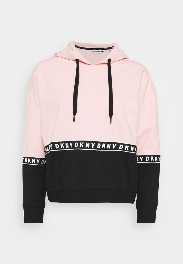 BOXY HOODED - Hoodie - rosewater