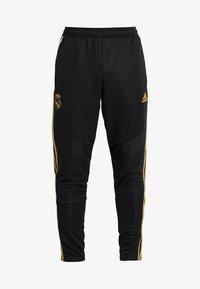 adidas Performance - REAL MADRID CLUB CLIMACOOL FOOTBALL PANTS - Tracksuit bottoms - black - 6