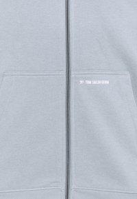 TOM TAILOR DENIM - HOODY JACKET  - Zip-up sweatshirt - foggy blue - 2