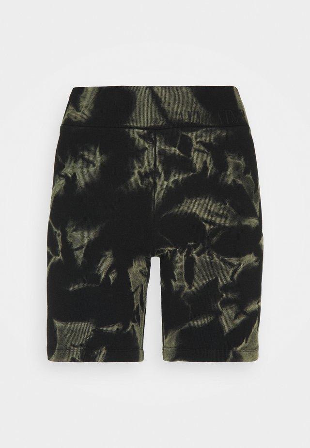 JAMIE TYDY - Shorts - black/khaki green