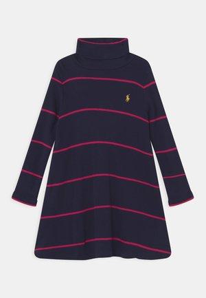 TURTLENECK DAY DRESS - Jersey dress - hunter navy