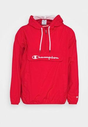 HALF ZIP - Windbreaker - red