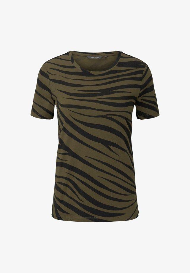 T-shirt print - olive zebra design
