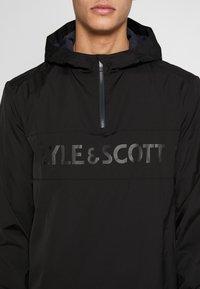 Lyle & Scott - SOLID ULTRA LIGHT ANORAK - Veste coupe-vent - true black - 5