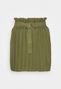 Pleated skirt - khaki