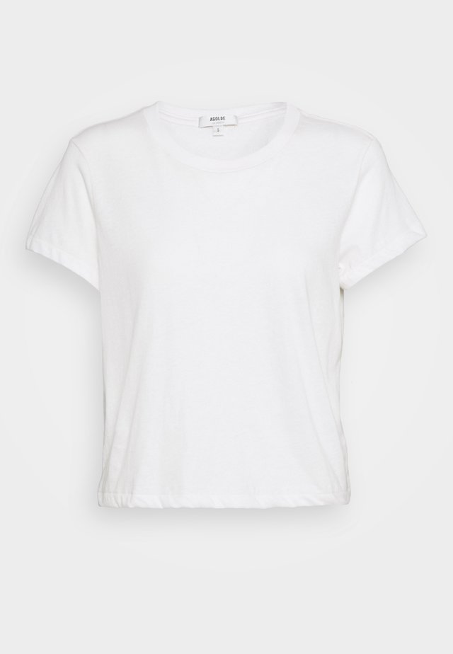 LINDA BOXY TEE - T-shirts basic - tissue off white