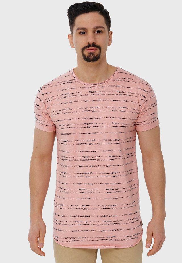 T-shirt print - coral cloud