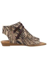 Blowfish Malibu - Ankle cuff sandals - tiger safari blanket/tobac dyecut - 6