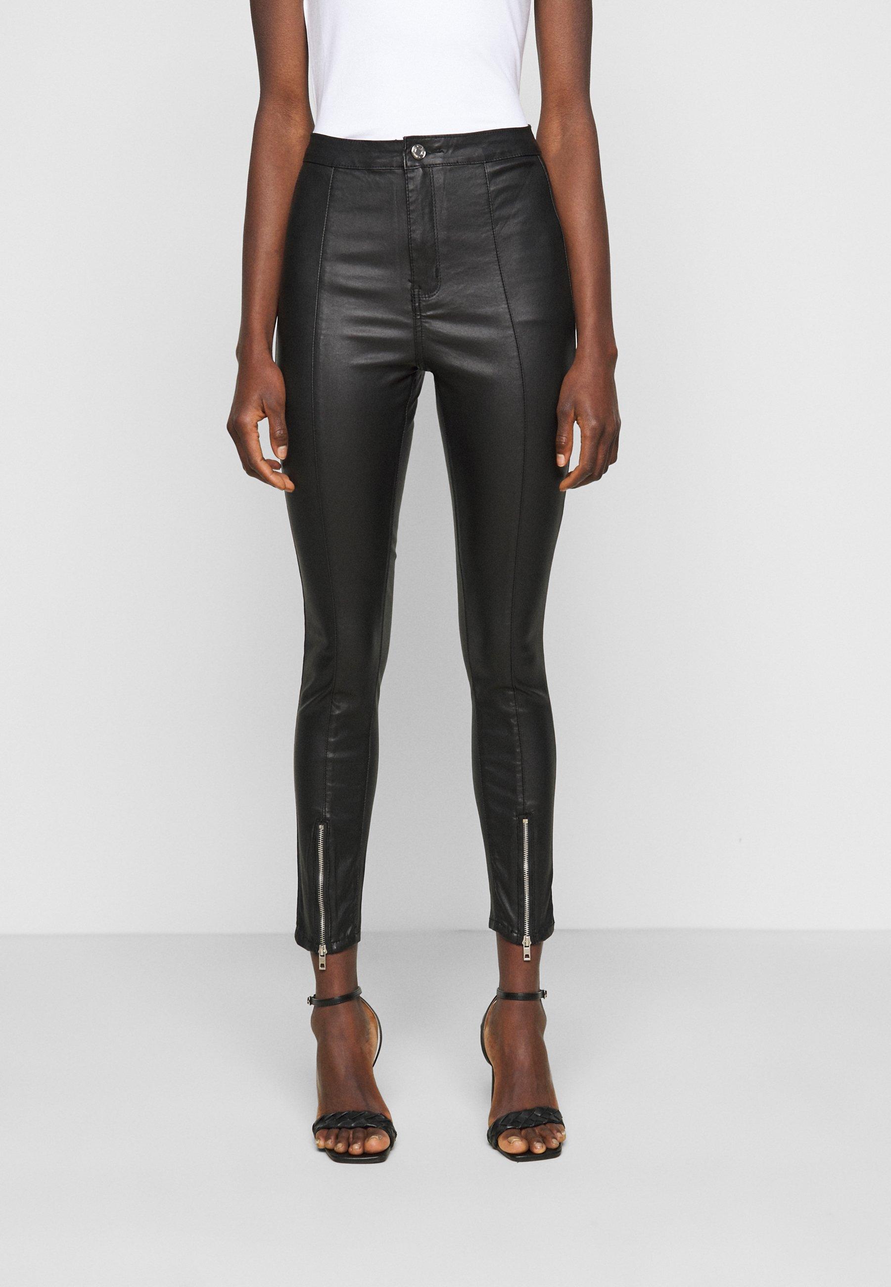 Women SPLIT HEM VICE WITH ZIPS - Straight leg jeans