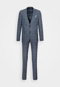 CHECK STRETCH - Oblek - dust blue