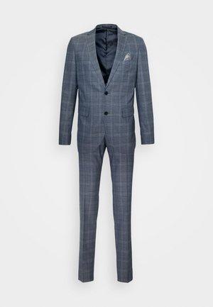 CHECK STRETCH - Suit - dust blue