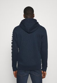 Hollister Co. - TECH LOGO UPDATE - Zip-up hoodie - navy - 2