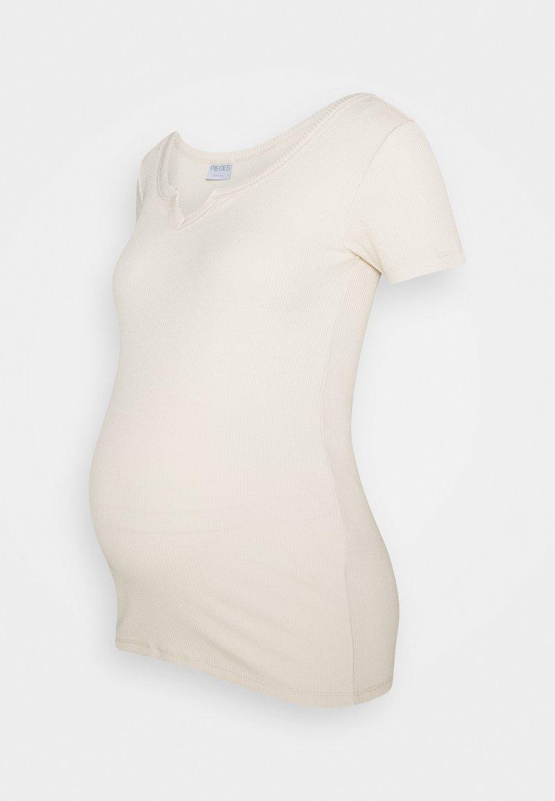 Pieces Maternity - PCMBANO  - Print T-shirt - whitecap