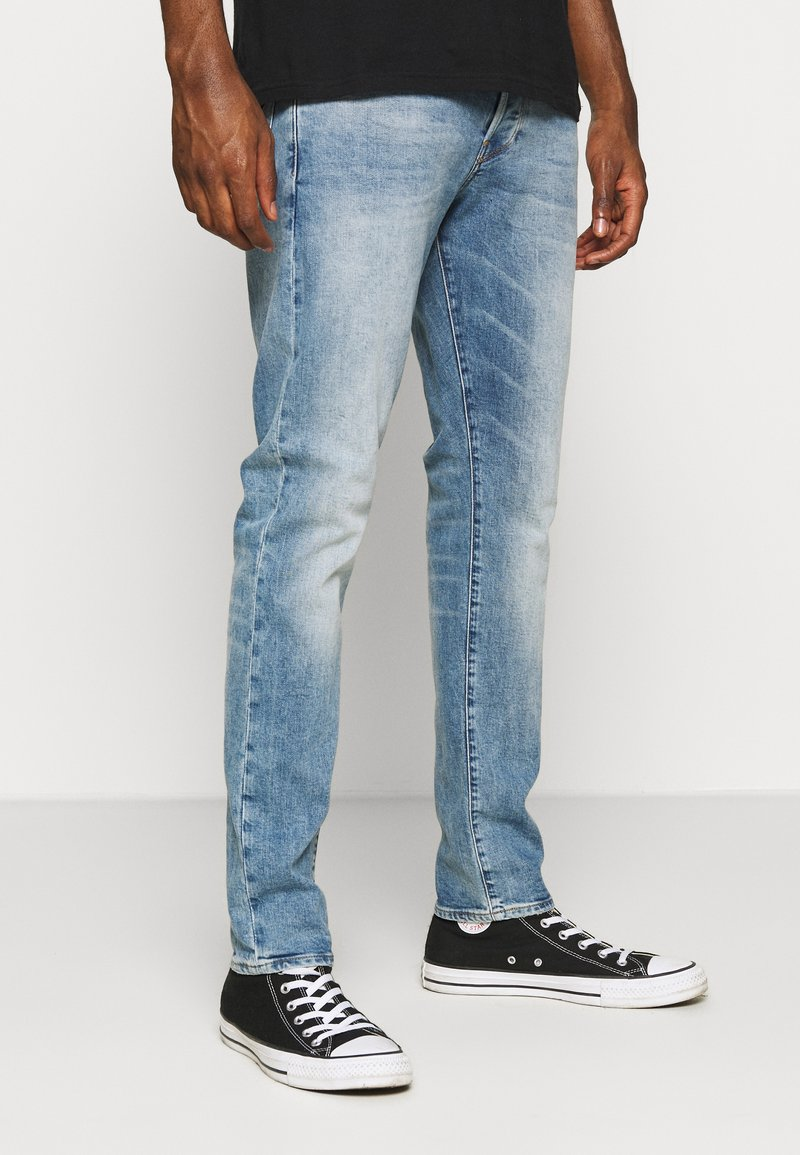 G-Star - 3301 STRAIGHT TAPERED - Straight leg jeans - ight-blue denim