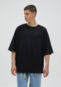 PULL&BEAR - LOOSE - T-Shirt basic - black - 0