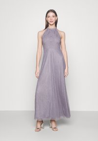 Vila - VIANGEELA HALTERNECK ANKLE DRESS - Occasion wear - quicksilver - 0