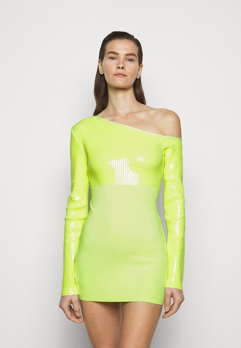 David Koma - Cocktail dress / Party dress - neon yellow