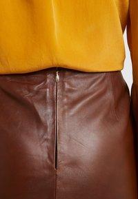 STUDIO ID - HANNAH LEATHER SKIRT - A-line skirt - brown - 4