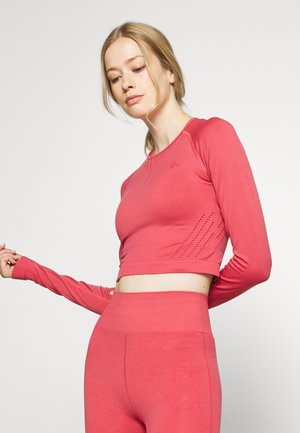 ONPJAVO CIRCULAR CROPPED - Long sleeved top - holly berry