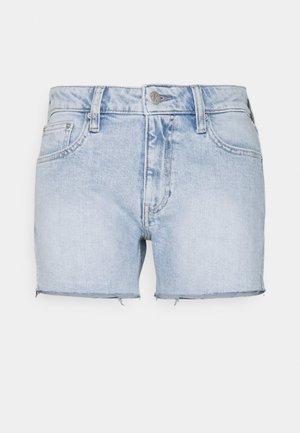 MID RISE - Denim shorts - denim light