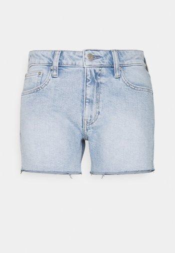 MID RISE - Shorts di jeans - denim light